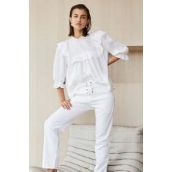 Acacia Leblon Linen Top White