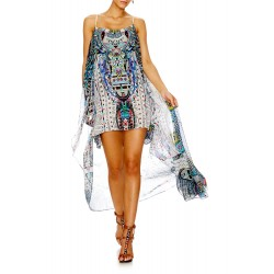 Camilla Maasai Mosh Mini Dress w/ Long Overlay