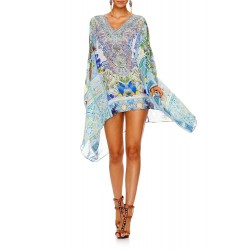 Camilla My Majorelle Split Shoulder Short Kaftan
