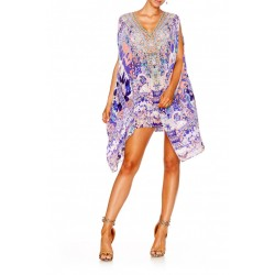 Camilla Still Life Split Shoulder Short Kaftan