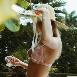 Montce Pink Crush Hunter Triangle Bikini Top