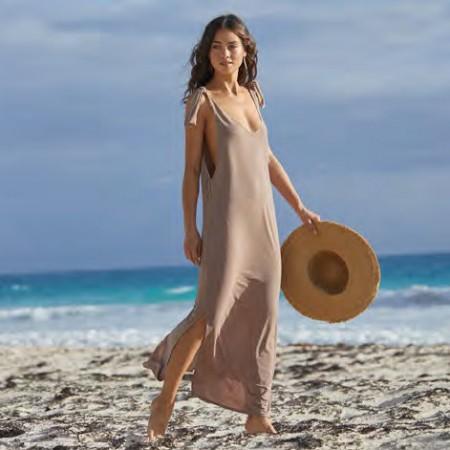 PilyQ Copper Sundown Long Dress