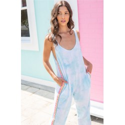 Pitusa Tie Dye Jumpsuit Light Blue