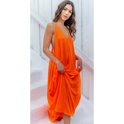 Pitusa Grecian Dress Tangerine