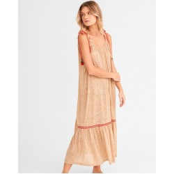 Pitusa Tie Up Dress Nude