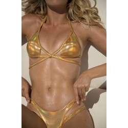 Sauvage Strappy Gold Iridescent Bottom