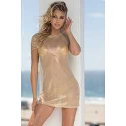 Sauvage Gold Mesh Beach Dress
