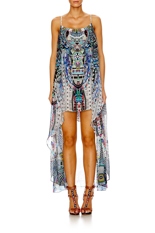Camilla Maasai Mosh Mini Dress W Long Overlay